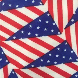 LuLaRoe Leggings OS American Flag Patriotic NWOT